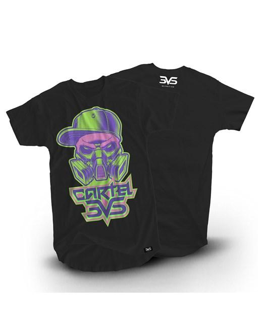 Camiseta Preta Neon Cartel