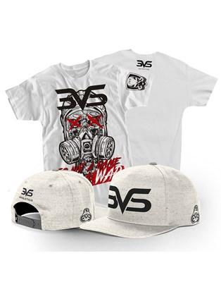 Combo Boné Aba Reta + Camiseta Branca Game War