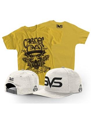 Combo Boné Aba Reta + Camiseta Cartel 3VS