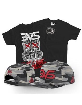 Combo Boné Aba Reta + Camiseta Preta Game War