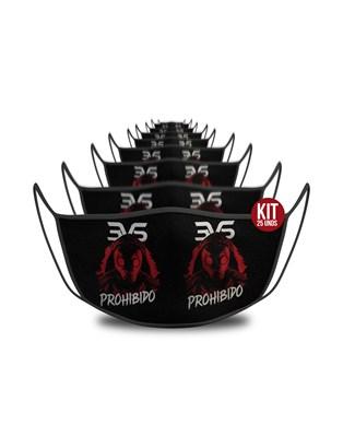 KIT c/ 25 unds - Mascara De Proteção Esportiva - Prohibido