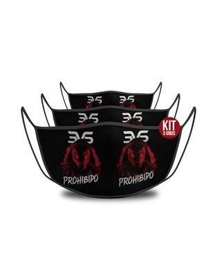 KIT c/ 3 unds - Mascara De Proteção Esportiva - Prohibido