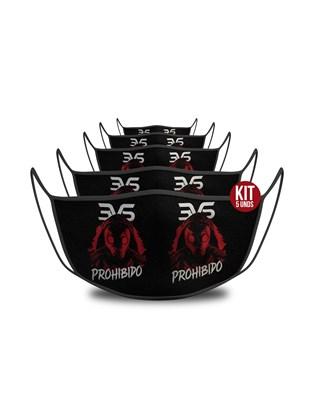 KIT c/ 5 unds - Mascara De Proteção Esportiva - Prohibido