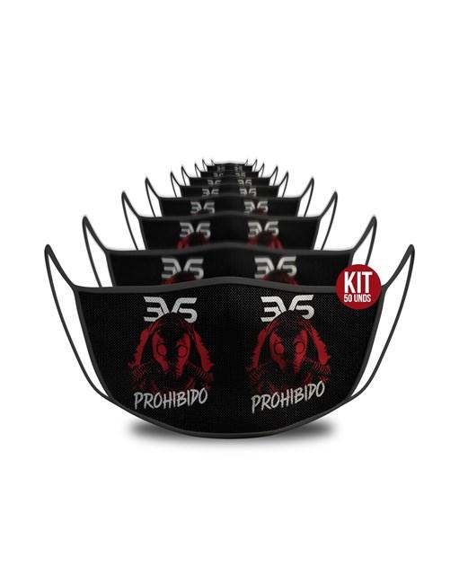 KIT c/ 50 unds - Mascara De Proteção Esportiva - Prohibido