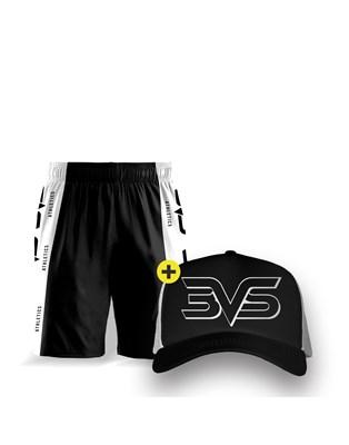 Shorts + Boné 3VS Preto